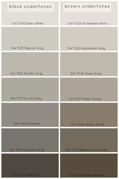 How To Choose The Perfect Grey Paint Color - Claire BrodyClaire Brody Designs. Agreeable Gray or Repose Gray. Mega Greige, Decoration Palette, Paint Colors For Home, Paint Colours, Brown Paint Colors, Gray Brown Paint, Warm Grey Paint, Lowes Paint Colors, Brown Floor Paint