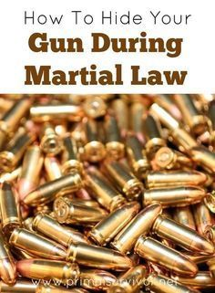 When martial law comes, will you be able to protect yourself? Learn these ways and strategies for hiding your guns during martial law for survival. Survival Food, Survival Prepping, Survival Skills, Survival Hacks, Survival Stuff, Urban Survival, Survival Weapons, Survival Equipment, Apocalypse Survival