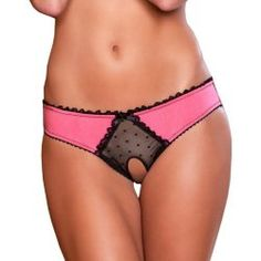 panties crotchless. Sexy Dark Pink Peek a Boo Crotchless Panty Microfiber Black Lace Trim S M or M L 2014. Missing crotch space is wide enough, but small enough to be very sexy. The back gives a nice view of her crack while being stylish and sexy as well. VERY satisfied! #panties