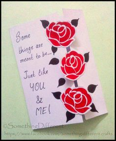 Something different valentines day special beating heart red roses valentines greeting card m4hsunfo