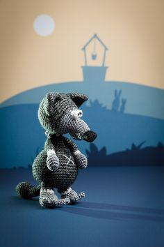 The big bad wolf - amigurumi pattern from the book 'Amigurumi Fairy Tales' - Design by Tessa Van Riet - Ernst