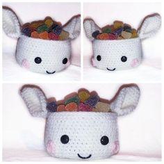 Crochet Pattern Basket PDF english-german-dutch ternura amigurumi Crochet Home Decor, Crochet Crafts, Crochet Dolls, Crochet Projects, Quick Crochet, Crochet For Kids, Free Crochet, Baby Afghan Crochet, Easter Crochet