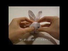 おしぼりうさぎの作り方 - YouTube