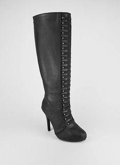 #manillamoms  studded tab trim zip back boot $24.95