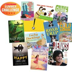 Read 11 books this summer! Check out our picks for New Reads!  Read the books and log your minutes at Scholastic.com/summer  #summerreading