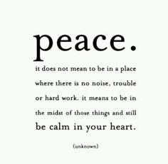 Peace indeed