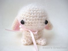 Whisper, an Amigurumi Lop-Eared Bunny Rabbit Doll by Moon's Creations, $30.00