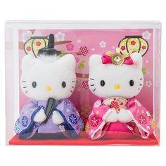 Hello Kitty and Dear Daniel Plush doll (Hina Doll) with BOX Sanrio Kawaii Japan