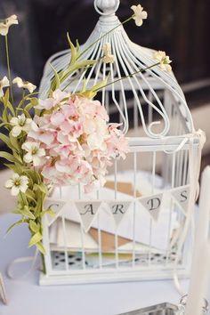 cage à oiseaux urne mariage