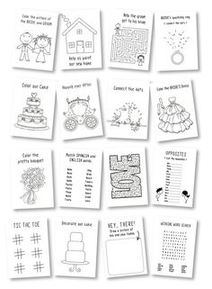 Kids wedding coloring book / wedding favor by ClaudiaCurtiDesigns