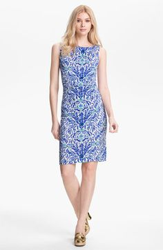 Tory Burch 'Viviane' Silk Sheath Dress available at Nordstrom