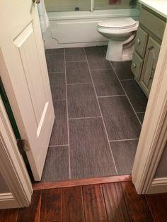 The Burrow : Bathroom Tile - Metro Gris grey tile, small bathroom