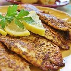 Cajun Style Blackened Snapper Allrecipes.com If you like spicy blackened fish this is a great recipe!