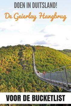Must-do in Duitsland: de Geierlay Hangbrug. Op slechts drie uur rijden van Utrecht en gratis entree!