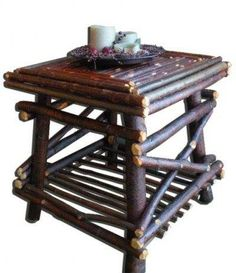 One of our awesome twig top end tables!!!!  So sweet,  fits in most anywhere!   Order it at:  www.davesrusticwillow.com