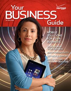 Verizon's Your Business Guide magazine cover art from fall 2011            #Verizon #business #magazine
