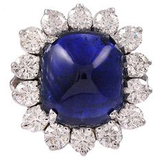 Magnificent 12. 82 CT Sapphire & Diamond Ring