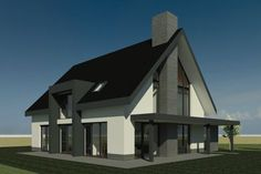 Nieuwbouwwoning in Plan Gerner Marke in Dalfsen Style At Home, Modern Barn House, Thatched House, Best Tiny House, Villa, Facade House, Home Reno, Exterior Design, Future House