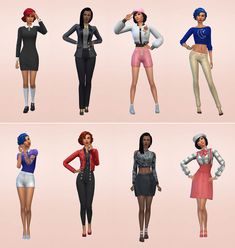 Netz-à-porter – outfits ready to wear for your sims (no CC required) - Page 9 Sims Four, Sims 4 Mm, My Sims, Marceline Outfits, Sims House Design, Sims Building, Sims 4 Characters, Sims 4 Clothing, Girl Outfits