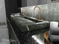 Tento byt ma baví 😍🤗👌 #modernhouse #bathroomdesign #bathroom #kupelna #designer #design #gold #mramor #marble #dizajn #mojdom #peknebyvanie… Marble, Sink, Bathtub, Bathroom, Gold, Design, Home Decor, Sink Tops, Standing Bath
