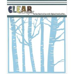 Clear Scraps CSSM6-FRST Translucent Plastic Film Stencil, Forest Trees, 6-Inch x 6-Inch ** Haven't you heard that you can find more discounts at this image link : Baking desserts tools