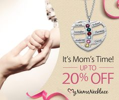 Mother's Day is May 10th! Save up to 20% on gifts for your Mom and all the special ladies in your life. The more you buy, the more you save <3 and they deserve it :)