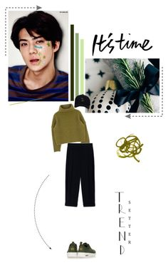 Come with me... by kaipopsara on Polyvore featuring Sportmax, NIKE, shopping, kpop and Sehun #kpop #fashion