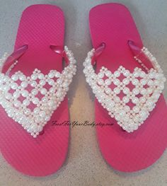 abb1d5bc1 FREE SHIPPING - Women   Girls Youth Beaded Flip Flops in a Variety of Shoe  and Bead Colors and Shoe Sizes - Design Your Own Flip Flops