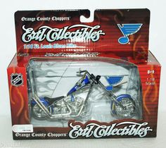 ST LOUIS BLUES HOCKEY DIECAST MOTORCYCLE ERTL NHL 1:18 SCALE OCC CHOPPER NEW #ERTLCollectibles #StLouisBluesHockey #OrangeCountyChoppersOCC