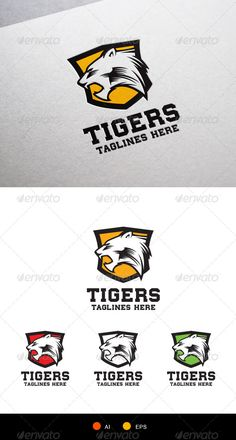 Tigers Logo Template - Animals Logo Templates