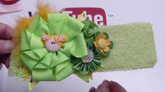 Como hacer Flores lindas para balacas de bebe