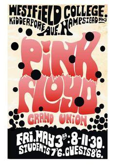 Pink Floyd Concert Poster 1968