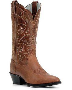 Ariat Ladies Russet Heritage R-Toe Western Boots