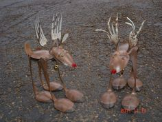reindeer made out of forks and spoons