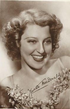 A vintage postcard from a real photograph, the beautiful Jeanette MacDonald.-ESCANO COLLECTION