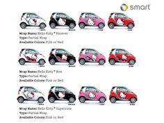 Hello Kitty smart car. Not for me, but maybe if I was more asian.