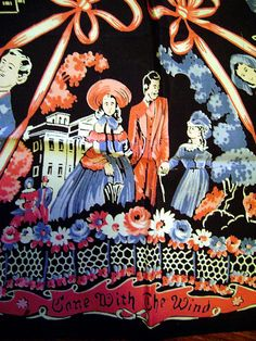 When I was in my teens, I was a huge Gone with the Wind fan!  I would've killed for this vintage, 1939 scarf featuring characters from the film that is now in my Ruby Lane shop!