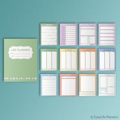 LIFE PLANNER KIT Printable Letter pdf 12 Pages by EasyLifePlanners