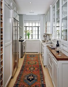 there IS  hope and luxury to be had in a gally kitchen.  Best and Company | PORTFOLIO El Dorado - Butler's pantry