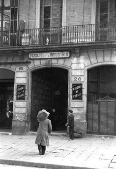 """Barcelona 1939 -1942 """"Passatge de la Indústria"""""""