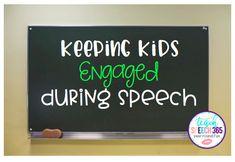 Keeping Kids Engaged During Speech