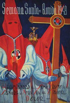 Semana Santa en Rondo, 1949. Poster, España.