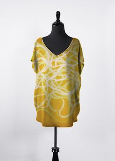 A beautiful and unique essential top that is perfect for your collection! Shop artistic essential top's created by designers all around the world. Green And Orange, Purple Yellow, Night Looks, Warm Colors, V Neck Tops, Print Design, Art Print, Cold Shoulder Dress, Skinny Jeans