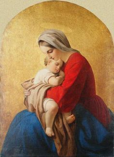 Madonna and Child Blessed Mother Mary, Divine Mother, Blessed Virgin Mary, Catholic Art, Religious Art, Images Of Mary, Mother Mary Images, Jesus Christ Images, Queen Of Heaven