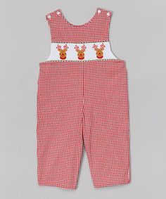 Loving this Red Reindeer John Johns - Infant on #zulily! #zulilyfinds