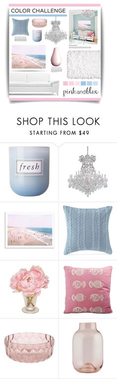 """Color Challenge: Pink & Blue"" by lgb321 ❤ liked on Polyvore featuring interior, interiors, interior design, home, home decor, interior decorating, Fresh, Victoria Classics, Allem Studio and Kartell in Tavola"