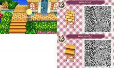 Animal Crossing New Leaf golden stone path QR code