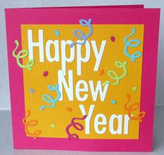 handmade happy new year card bright modern by paperdaisycarddesign 400 happy new year letter