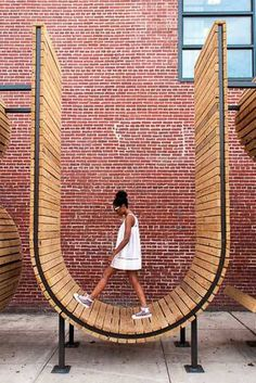 Landscape architects, architects, and artists are having fun with words in bus stops, playgrounds, and plazas. In these instances, letters become tangible and structural, so they can be touched, sa…