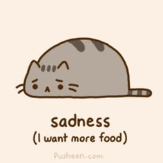 # sad pusheen cat